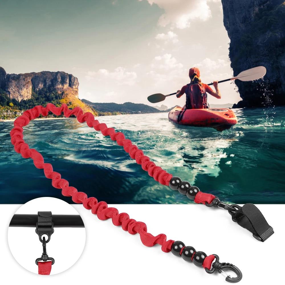 Elastic Safety Paddle Leash For Kayak Canoe Boat Fishing Cord Rod Lanyard N1B7