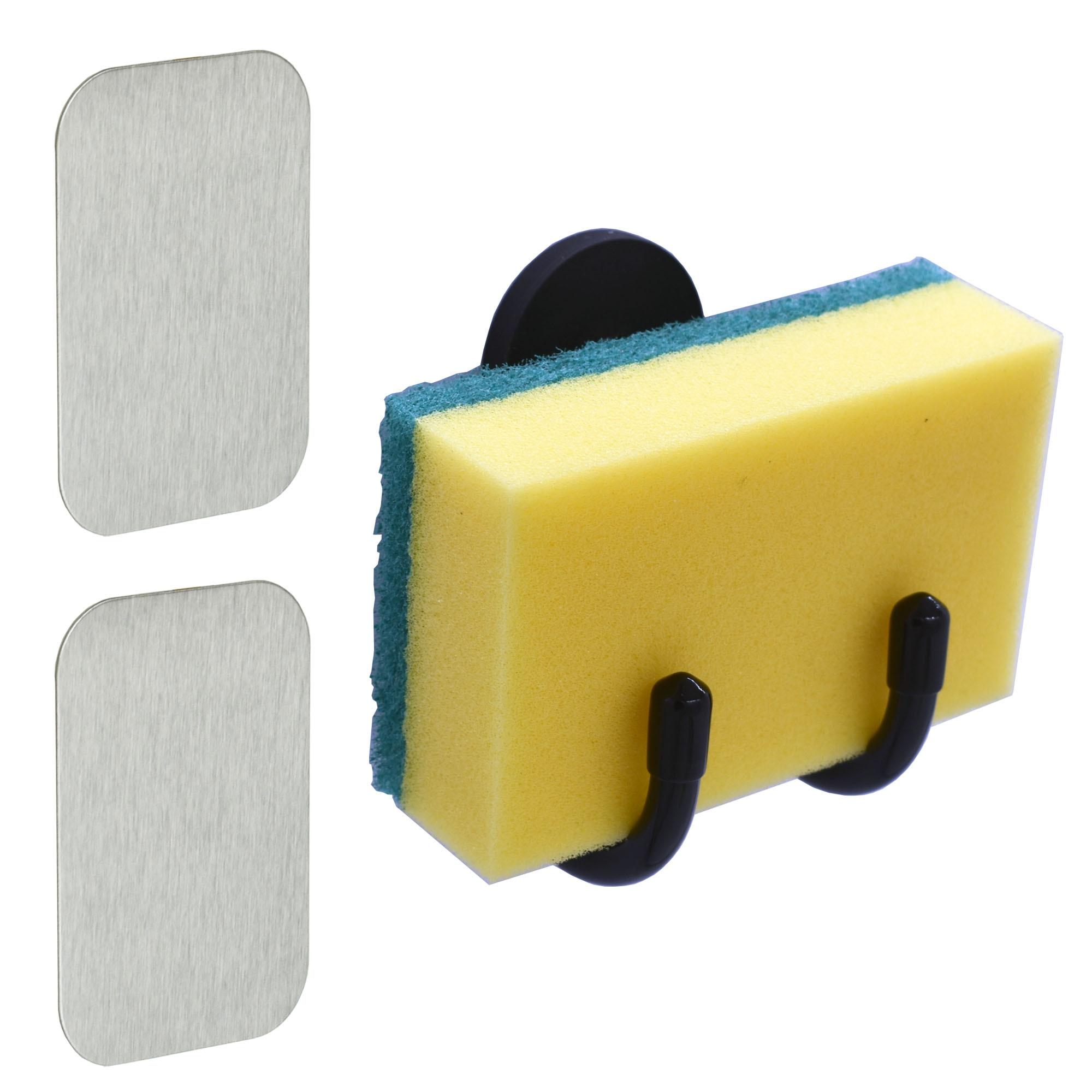 Magnetic Sink Holder Sponge Holder Dish Wand Holder Brushes Holder - No Rust No Suction Cups - 1/PK