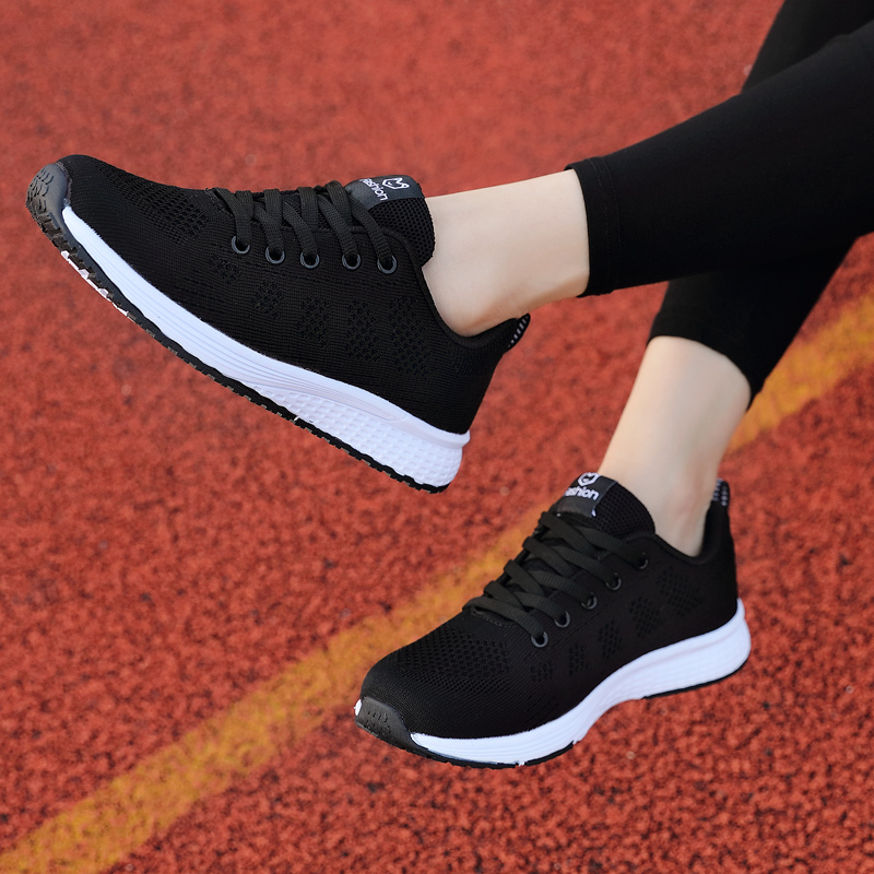 2020 New Women Shoes Flats Fashion Casual Ladies Shoes Woman Lace-Up Mesh Breathable Female Sneakers Zapatillas Mujer Feminino 6
