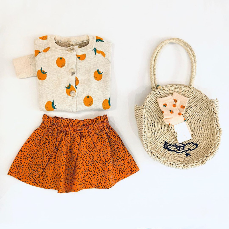 Kids Sweater Brand 2021 Autumn Winter Toddler Girl Clothes Orange Knitted Baby Boys Coat Jacket Children Fashion Girls Outfits 3