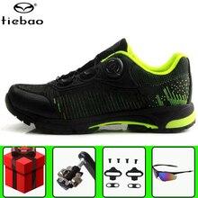 TIEBAO обувь для велоспорта для отдыха SPD набор педалей мужские кроссовки для горного велосипеда самоблокирующиеся sapatilha ciclismo mtb велосипедная обувь для верховой езды