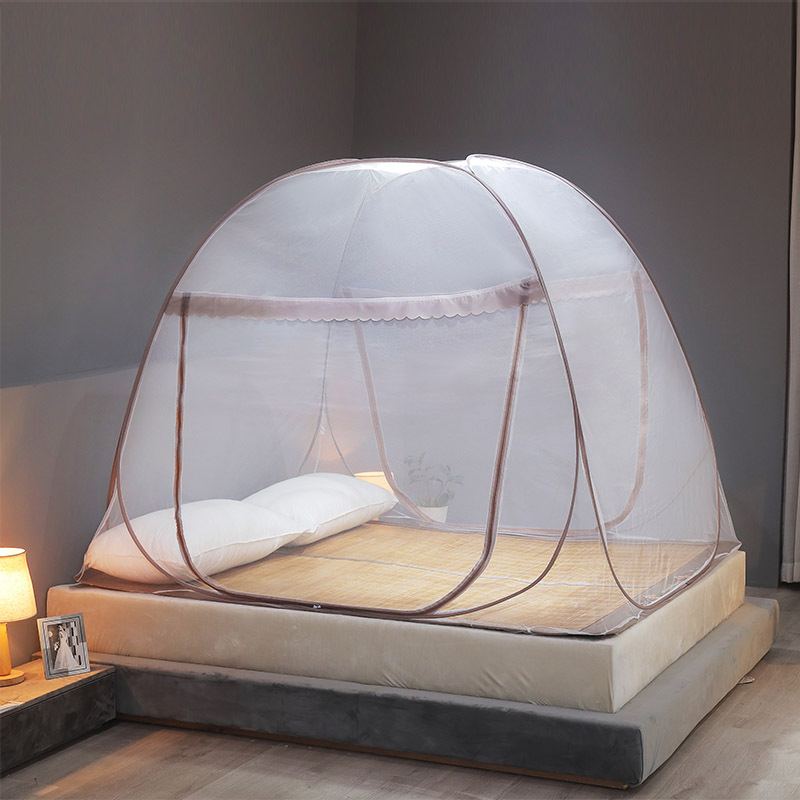 Folding Portable Mosquito Net Summer Bed Tent Encryption Canopy Home Decor Mongolian Yurt Mosquito Nets Insect Mesh Netting 1PC 12