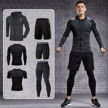 Dry Fit trening męski zestaw odzieży sportowej siłownia kompresja Sport garnitur Jogging Tight odzież sportowa odzież 4XL5XL ponadgabarytowy mężczyzna