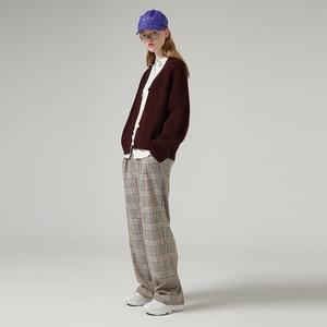 Image 3 - Toyouth 게으른 스타일 여성 중공업 긴 소매 스웨터 느슨한 솔리드 싱글 브레스트 v 넥 스웨터