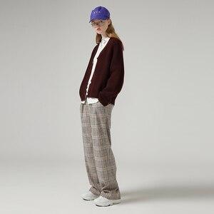 Image 3 - Женский однобортный свитер с V образным вырезом и длинным рукавом