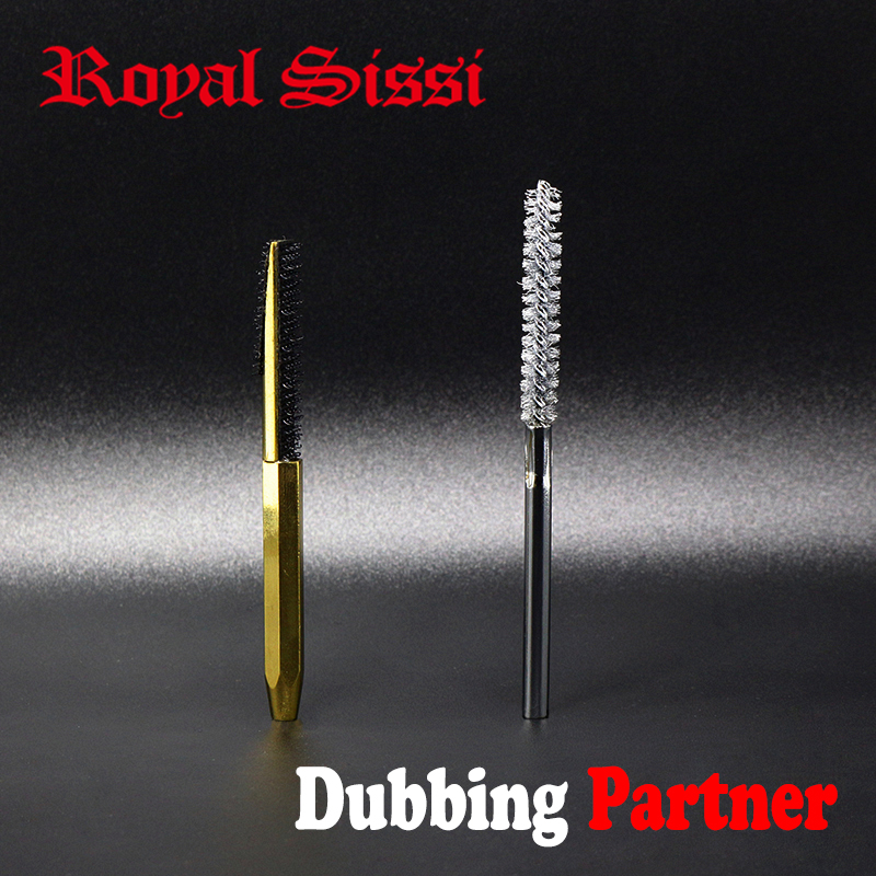 Royal Sissi Hot 2styles Assorted Fly Tying Dubbing Brush Combo Stainless Wire&hook Back Comb Brush Professional Fly Tying Tools