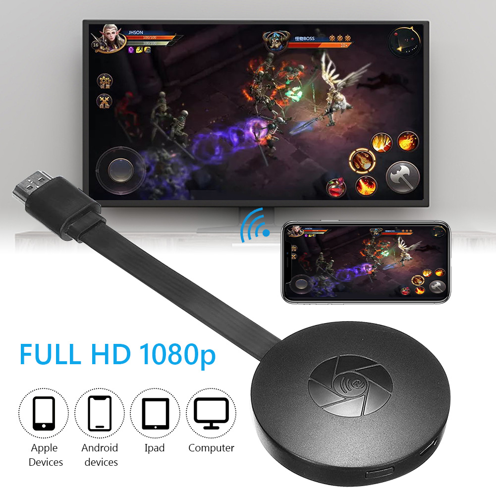 Miracast Android Dongle Mirascreen Wifi HDMI-compatible Airplay TV Stick Wireless Display Receiver 1080P Media Streamer Adapter - ANKUX Tech Co., Ltd