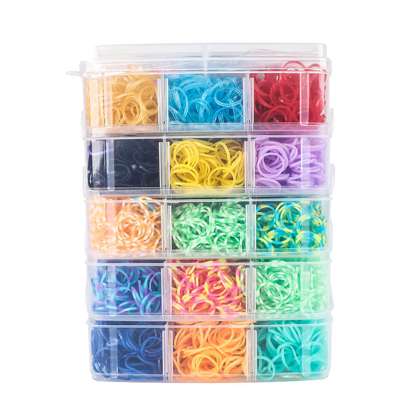 9000pc DIY Toys Rubber Loom Bands Set Kid DIY Bracelet Silicone Rubber Bands Elastic Rainbow Weave Loom Bands Toy Children Goods