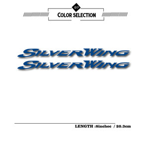 Image 2 - New motorcycle stickers reflective waterproof stickers fuel tank decals helmet LOGO for for Honda silverwing silver wing 400 600