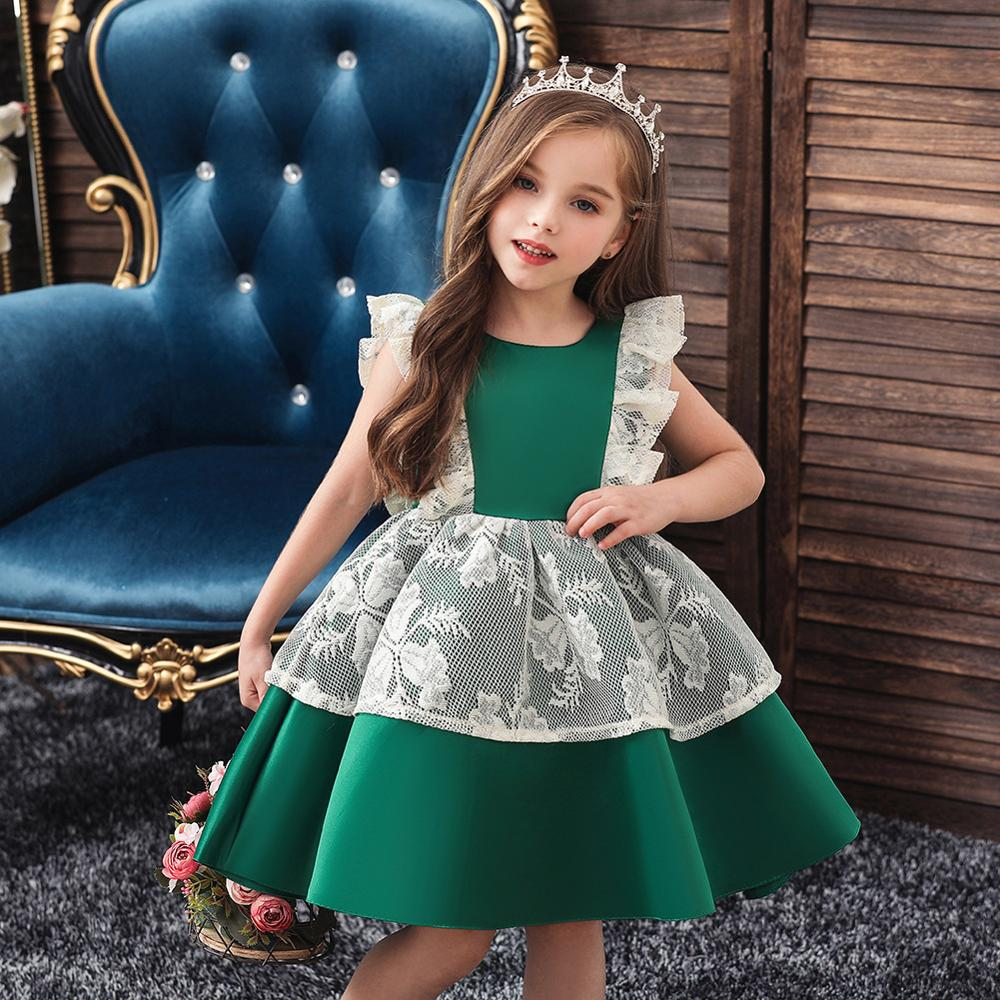 Girls Christmas Dress Kids Dresses For Girls Party Dress Elegant Children Princess Flower Girls Wedding Dress Vestido Infantil