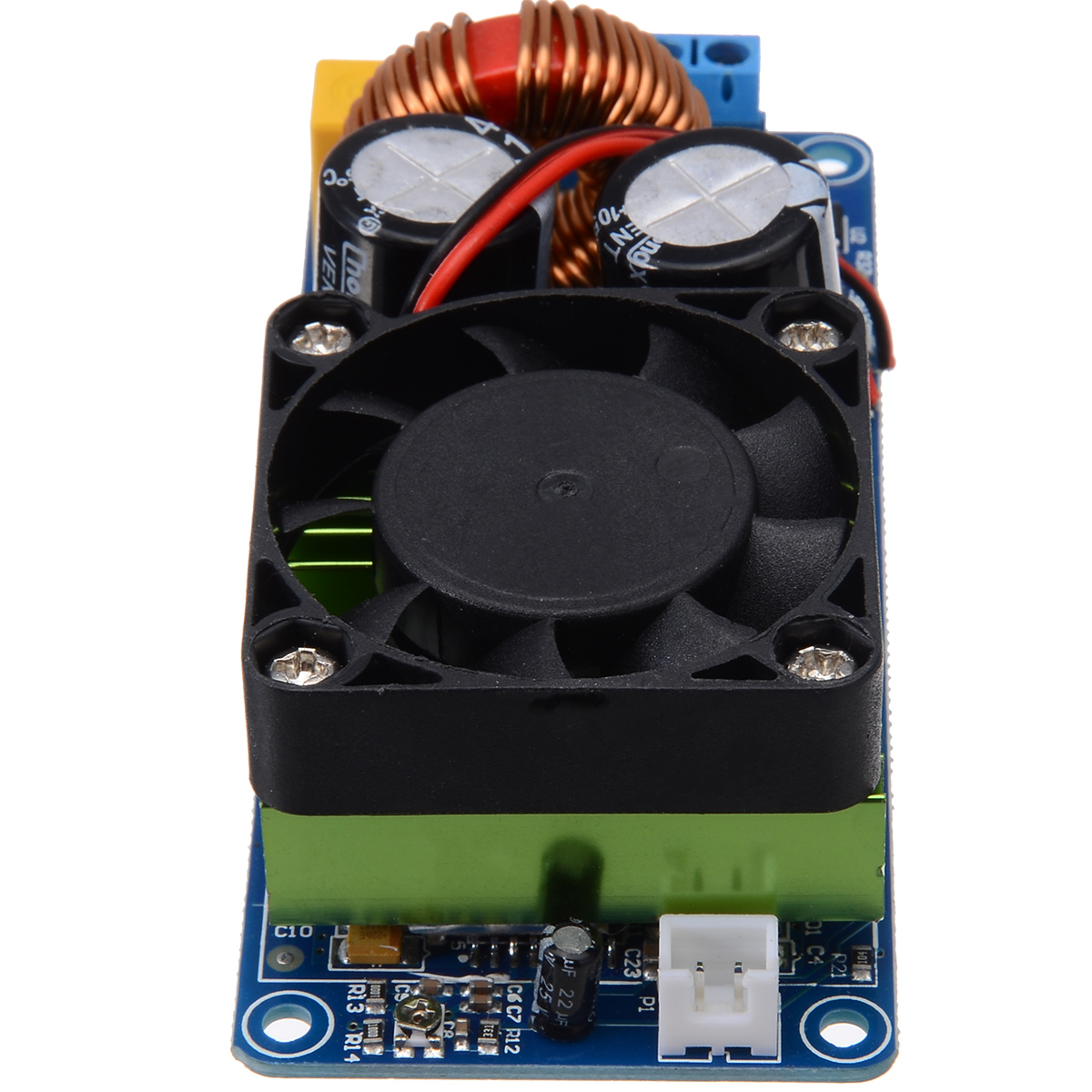Image 2 - New IRS2092S Mono Channel Digital Amplifier Module 20Hz 20KHz Class D HIFI Power Amp Board With Fan 500W-in Amplifier from Consumer Electronics