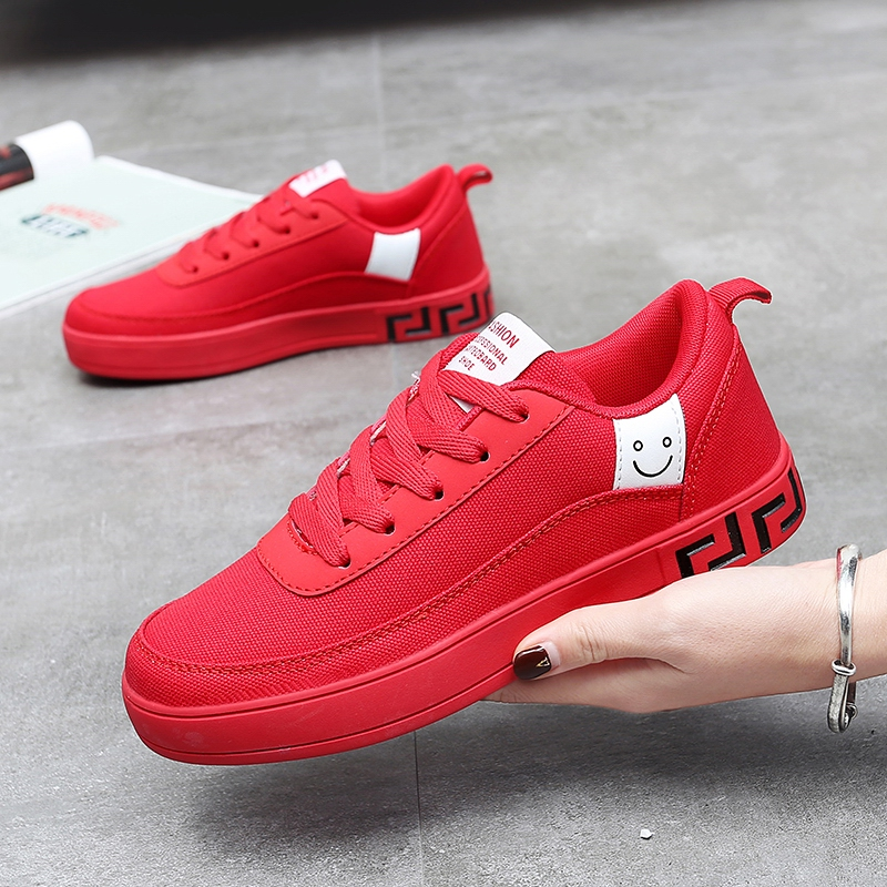 Couple fashion canvas <font><b>shoes</b></font> wild Korean casual <font><b>shoes</b></font> couple little red <font><b>shoes</b></font> men <font><b>skateboard</b></font> <font><b>shoes</b></font> vans <font><b>shoes</b></font> zapatos de hombre image
