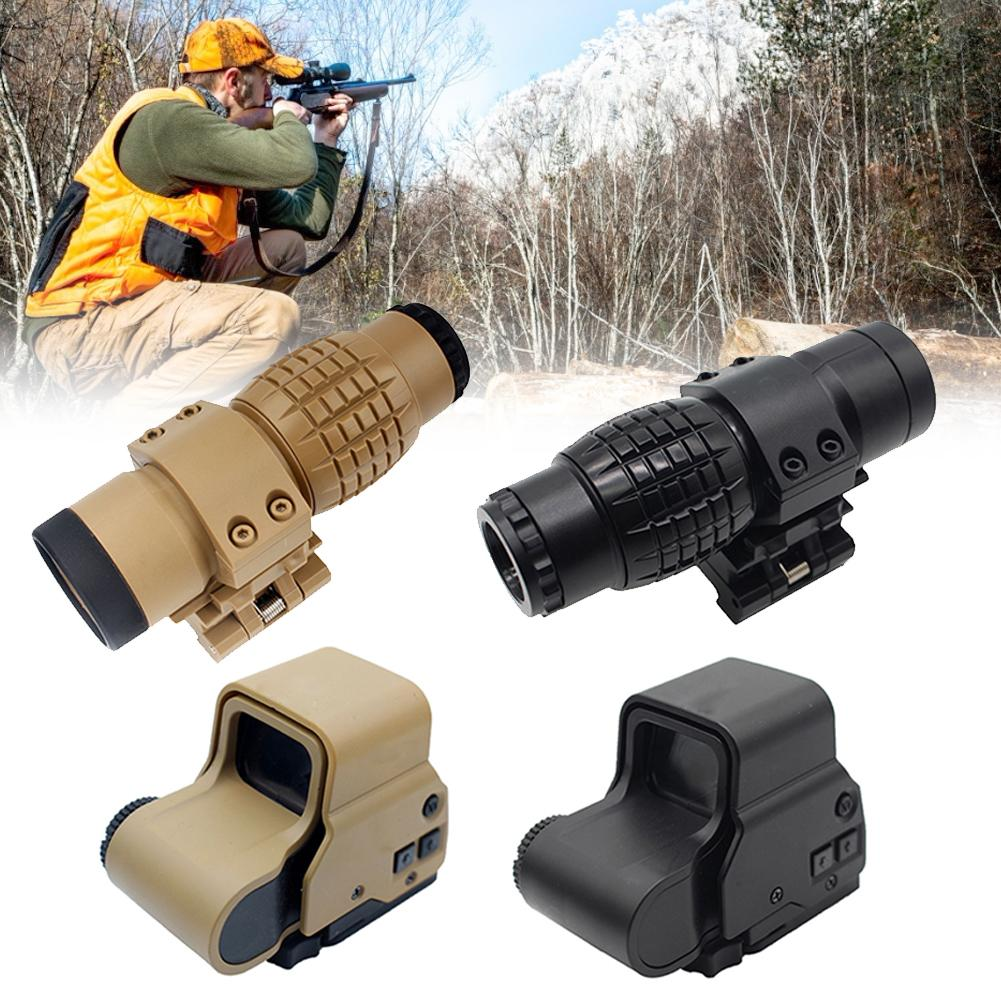 Outdoor Portable 3x Magnifying Glass Holographic Sight Range Telescope Tactical Hunting Suitable For Aiming At Fast Moving Targe
