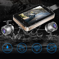 1080P Waterproof Motorcycle Driving Recorder Moto 4 Inch Touch Wifi Locomotive Dual Lens DVR For Motorcycle Camera Moto Dashcam