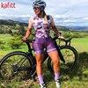 Kafit verão novo de manga curta triathlon esportes ciclismo macacão roupa ciclismo feminino macacão ir shorts terno 5