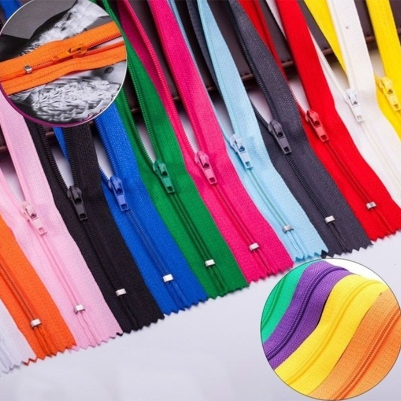 10Pcs/Set 20cm Assorted Color Closed End Nylon Invisible Zippers For DIY Tailor Sewing Crafts Purse Bag Handmade Garment