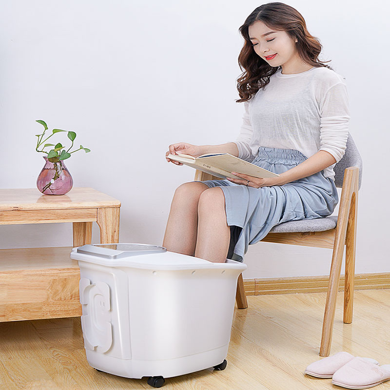 Big White Bubble Foot Barrel Bath Automatic Electric Massage Heating Thermostat With The Same Artifact