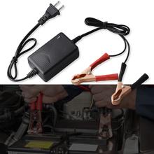 Uniwersalny w pełni automatyczny 12V 1 5A inteligentny samochód ładowarka motocyklowa do samochodu ATV RV łódź Auto akumulator opiekun czarny tanie tanio CN (pochodzenie) 4-12 HOURS Lead-acid batteries 1 22inch 3 15inch 12 v Ładowania baterii jednostki 0 14kg 1 77inch Battery Charging Units