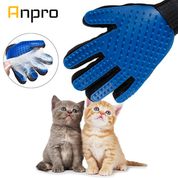 Anpro 1PC Cat Hair Remove Gloves Cat Grooming Glove Pet Dog Cleaning Deshedding Brush Gloves Effective Massage Dog Combs 1