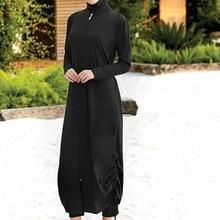 Islamic Women Muslim Swimwear Long Dress and Pants Burkini Swimsuit Modest Swim Surf Wear Sport Full Suit Swimming 3 Piece Sets