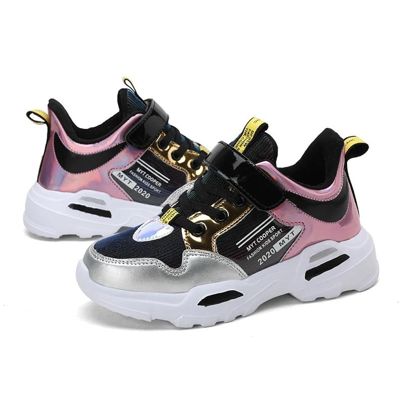 Chaussures de sport respirantes pour enfants chaussures de coursedextérieur de marque à la mode pour garçons et filles collection hiver