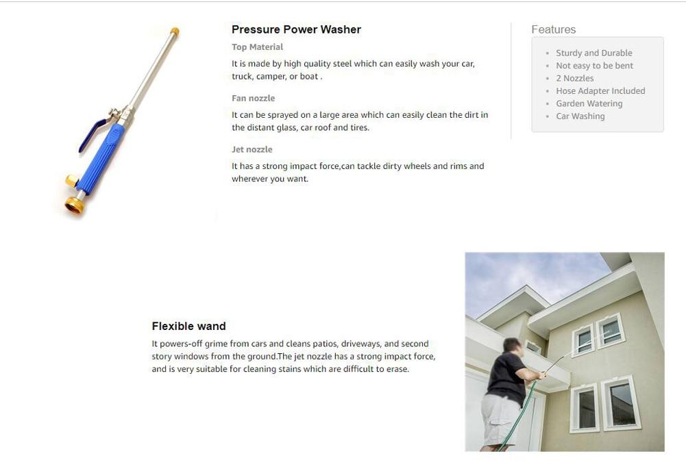 H16d528b477cc48008929a763a35cc98bD Meijuner Car High Pressure Water Gun 46cm Jet Garden Washer Hose Wand Nozzle Sprayer Watering Spray Sprinkler Cleaning Tool