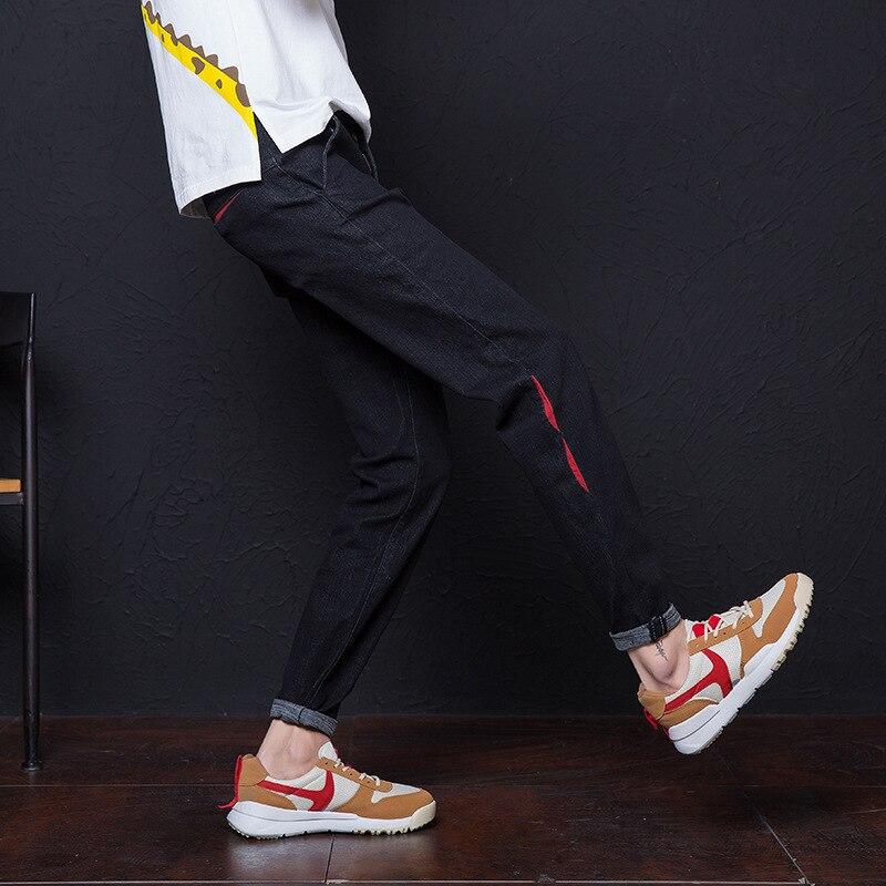Spring And Autumn New Style Jeans Men Korean-style 9 Capri Pants Slim Fit Pants Trend Elasticity Thin