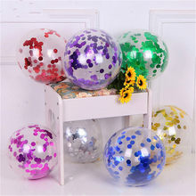 1pcs Sequins Funny Accessories Wedding Party DIY Decorations Decoration BalloonsTransparent Balloon Party Favors Christmas(China)