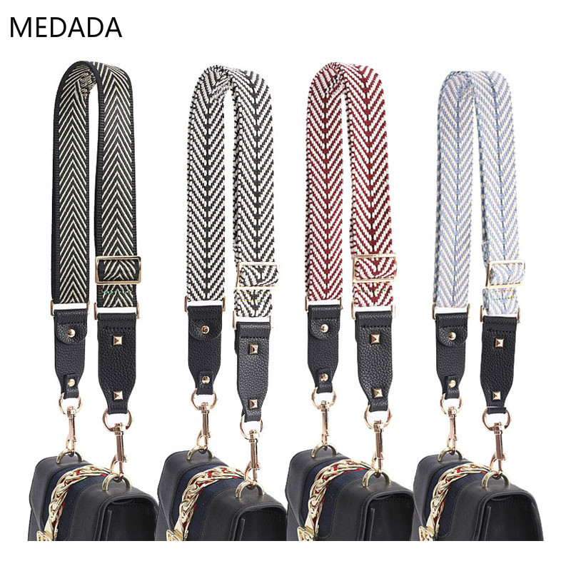 New 3.8cm Bag Accessories Shoulder Bag Strap Women Handbag Wide Belt With One Shoulder And Slant Span Adjustable Arrow For Ladie
