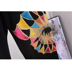 Image 5 - Jersey de manga larga con lentejuelas para mujer, traje de dos piezas, chándal de punto