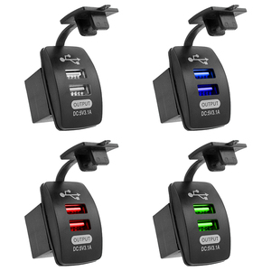5V 3.1A Universal Car Charger Waterproof Dual USB Ports Auto Adapter Dustproof Phone Charger For Iphone Xiaomi Redmi Samsung(China)