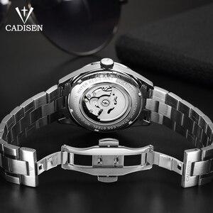 Image 5 - Oryginalna CADISEN Top luksusowa marka mężczyźni pełna stal automatyczny mechaniczny dla mężczyzn selfwind 50M wodoodporna zakrzywiona powierzchnia ultracienki zegarek