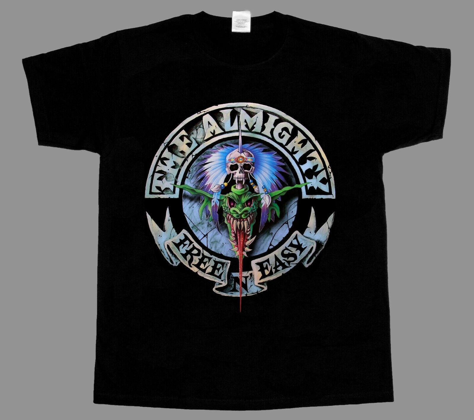 THE ALMIGHTY FREE N EASY HARD HEAVY BAND THE WILDHEARTS NEW BLACK T-SHIRT