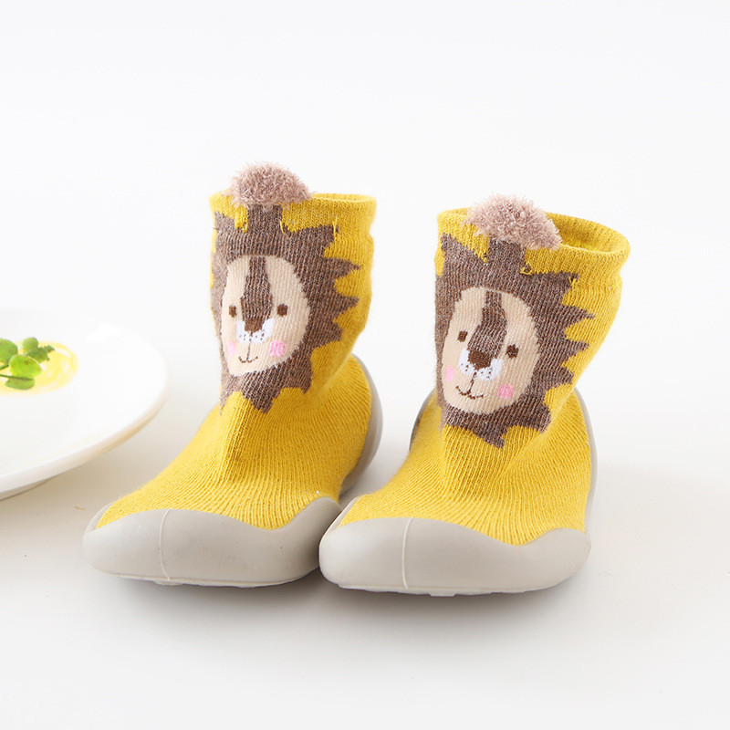 Toddler Baby Knitted Leopard Floor Socks Shoes with Rubber Soles Infant Anti-slip Indoor Socks Newborn Spring Summer Autumn 6