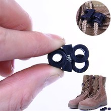 цена на 1 Pair Black Shoelace Buckle Stopper Rope Clamp Cord Lock Cross Design New Fashion High Quality Small Plastic Shoe Decoration