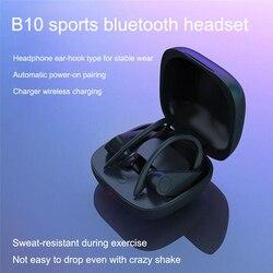 B10 Sport Drahtlose Kopfhörer TWS Stereo Bluetooth 5,0 Noise Reduction Kopfhörer Für Lauf Mit Drahtlose Lade Funktion