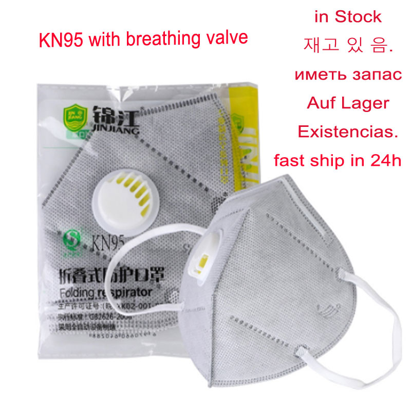 5/10pack KN95 Valved Dust Mask Respirator Mouth Mask PM 2.5 Adult Vertical Folding Nonwoven Valve Gauze Haza Mask In Stock  NPC