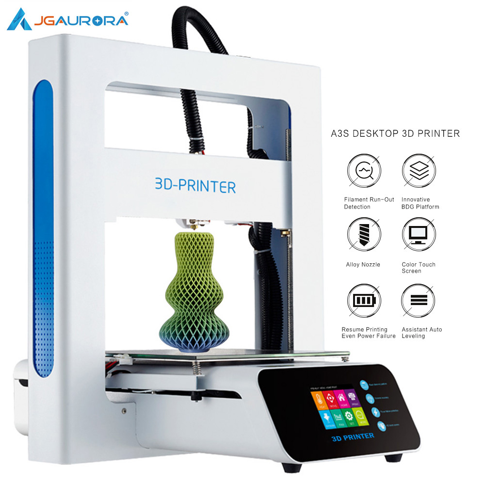 JGAURORA A3S 3D Printer Updated Prusa Ramps with Large Build Size Ship from Factory Directly or USA/UK/Germany/Russia Warehouse(China)