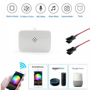 Magic Home SPI WiFi LED Pixel контроллер alexa google home IOS Android WS2812B WS2812 ws2811 SK6812 WS2812B ленточный светильник 5-24 В