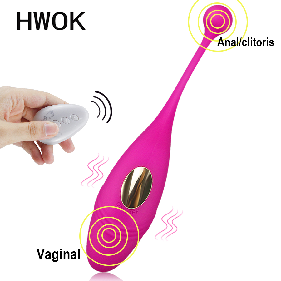 HWOK Panties Wireless Remote Control Vibrator Panties Vibrating <font><b>Egg</b></font> Wearable Dildo Vibrator G Spot Clitoris <font><b>Sex</b></font> <font><b>toy</b></font> for Women image
