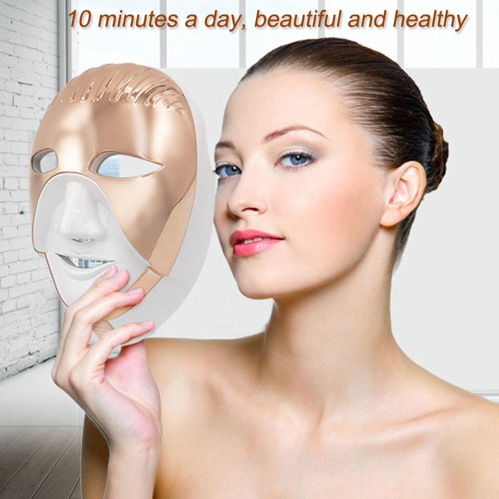 HOT 8 couleurs lumière LED Photon Anti-rides visage cou masque rides acné enlèvement peau rajeunissement LED masque