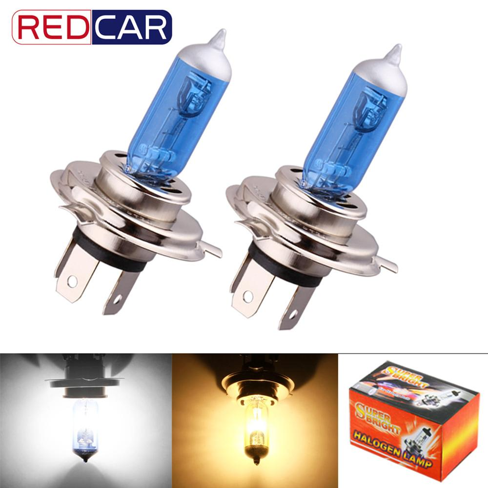 2pcs H4 Led Bulb 55W Super Bright White Fog Halogen Bulb Car Head Lamp Light Car Styling Car Light Source Parking Amber DRL