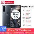 2020 OnePlus Nord 5G 6,44 ''snapdragon 76 5G 8GB 128GB смартфон 48MP Quad Camera 4115 мА/ч, 90 Гц активно-матричные осид, Дисплей NFC мобильный телефон