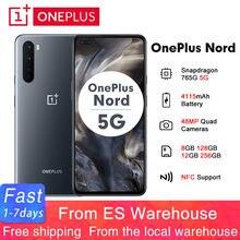 2020 OnePlus Nord 5G 6.44 ''Snapdragon 765G 8GB 128GB Smartphone 48MP Quad Camera 4115mAh 90Hz wyświetlacz AMOLED telefon komórkowy z NFC