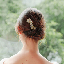 FIAZIA, свадебные Кристальные гребни, женские свадебные ювелирные аксессуары, грациозные Стразы ручной работы, свадебный головной убор невесты, лепесток, заколки для волос