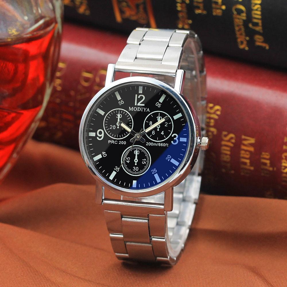 Top Brand Mens' Watch Luxury Stainless Steel Quartz Watch Three Eyes dial design Analog Wrist Business Watch Clock Reloj mujer