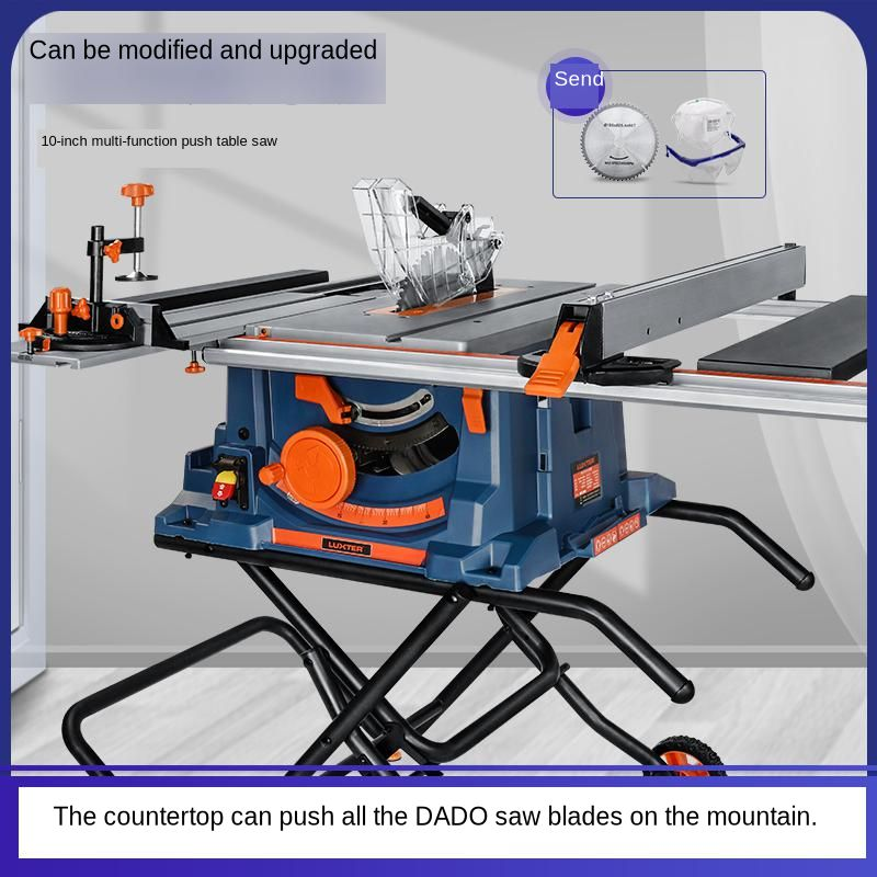 Household Multi-functional Table Saw, Board Saw, Dust-free Electric Saw, Inverted Electric Circular Saw, Large Plate Cutting Mac