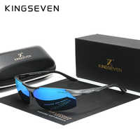 KINGSEVEN-gafas de sol polarizadas de aluminio para hombre y mujer, lentes de espejo para conducir, de aviación, 9126