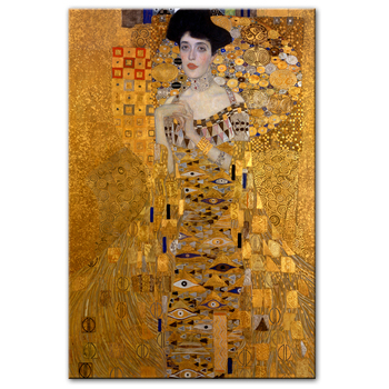 Diamond Painting Portrait Of Adele Bloch Canvas Paintings On The Wall Gustav Klimt Kiss Paintings Reproductions Canvas Prints Fo image