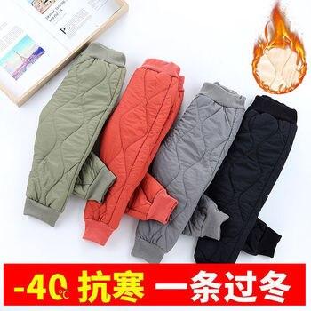 Vidmid Winter Warm Kids Thick Fleece Trousers Pants Clothing Boy Pants Girl Leggings Children Trousers Windproof Snow Pants P393 1